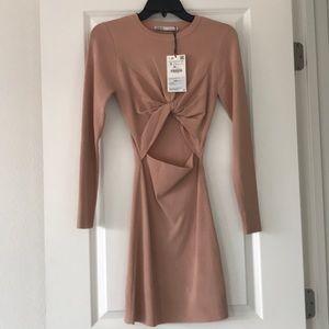 SOLD NWT Zara Blush Dress
